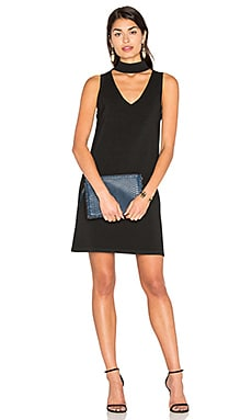 Italian Structured Shift Dress em Preto
