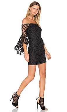 Selena Mini Dress in Black & Black