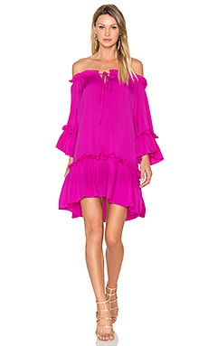 Silk Santorini Dress en Fuchsia