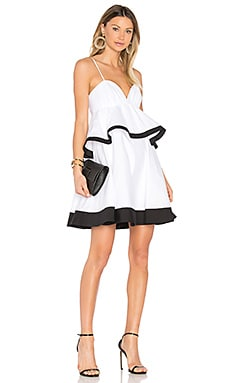 Melody Dress in White & Black