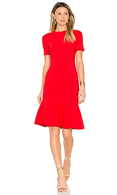 Mermaid Hem Dress in Red