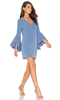 Nicole Dress in Steel Blue