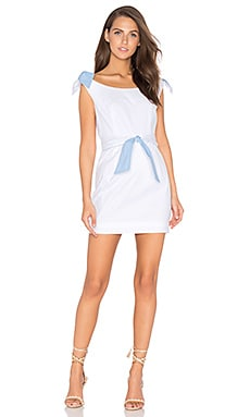 Candice Dress in White & Sky