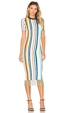 Gestreiftes Kleid in Rainbow Multi