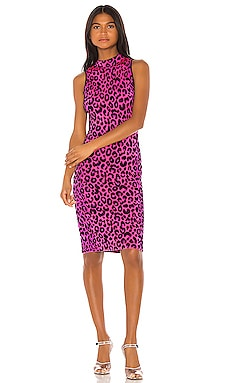 Cheetah Fitted Dress MILLY $350