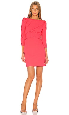 Belted Clare Puff Sleeve Dress MILLY $255