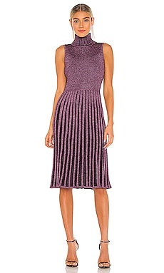 Pleated Midi Dress MILLY $425