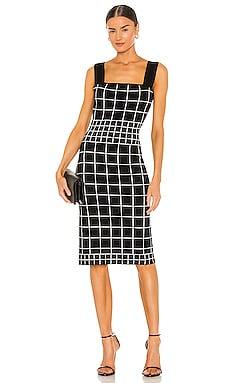 Windowpane Column Dress MILLY $336