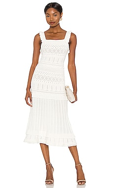 Light Weight Pointelle Midi Dress MILLY $425