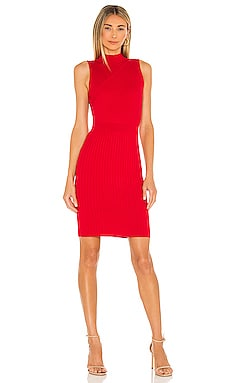 Chevron Rib Fitted Dress MILLY $350 NEW