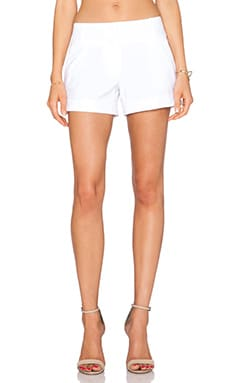 MILLY Dobby Cuff Short in White
