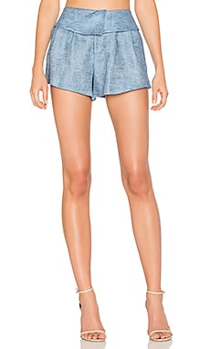 Fold Over Short en Bleu