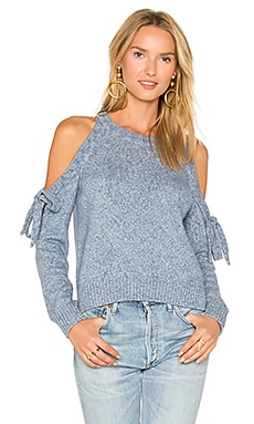Tie Shoulder Sweater in Chambray