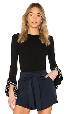 Layered Ruffle Sleeve Pullover