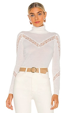 X REVOLVE Lace Inset Sweater MILLY $285
