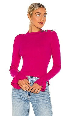 X REVOLVE Rib Gem Shoulder Pullover MILLY $295