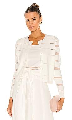 Sheer Stripe Cardigan MILLY $295