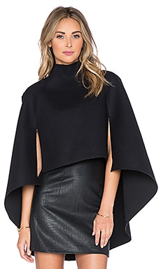 MILLY Fitted Cape in Black
