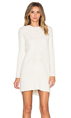 Engineered Cable Tunic in White
