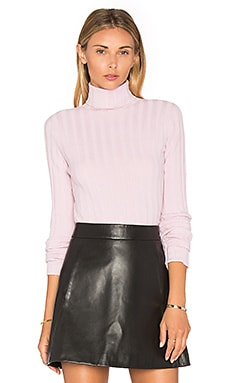 Rib Turtleneck Sweater in Petal