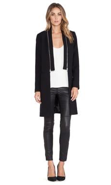 MILLY Zip Coat in Black