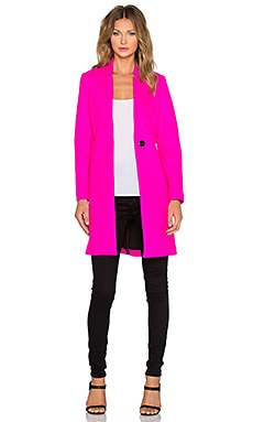 MILLY Slim Coat in Fluo PInk