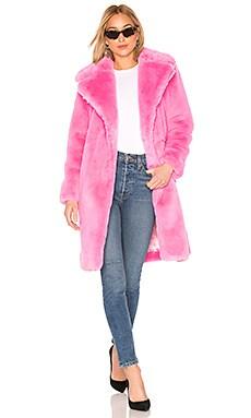 Riley Long Faux Fur Coat MILLY $695
