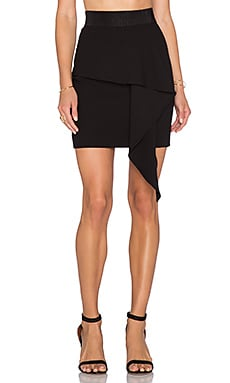 MILLY Cascade Mini Skirt in Black