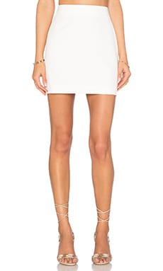 Modern Mini Skirt in White