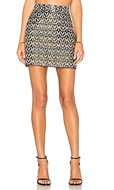 MILLY Chevron Modern Mini Skirt in Multi