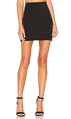 MILLY Modern Mini Skirt in Black