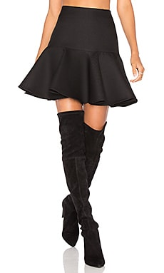 Flounce Skirt in Black