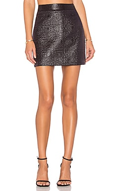 Jacquard Modern Mini Skirt in Black