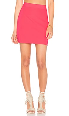 Modern Mini Skirt in Fluo Pink