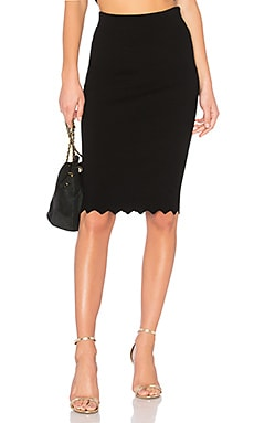 Pointed Scallop Fitted Skirt