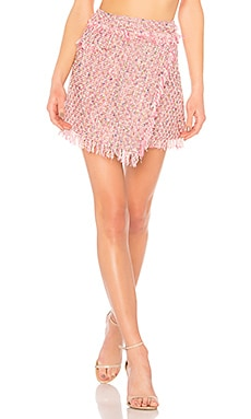 Fringe Mini Wrap Skirt