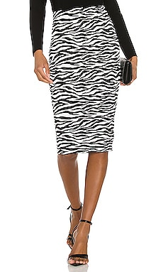 Zebra Midi Skirt MILLY $138