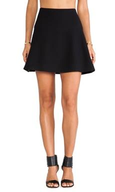 MILLY Flare Skirt in Black