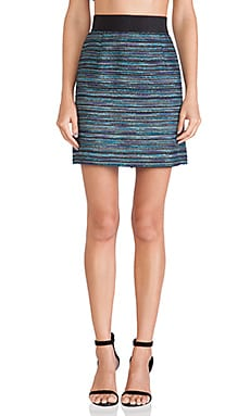 MILLY Zip Skirt in Cobalt