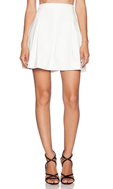 MILLY Cady Pleated Skirt in White