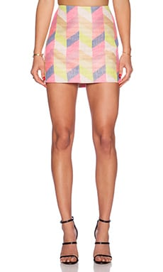 MILLY Classic Mini Skirt in Multi