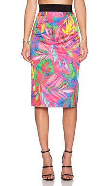 MILLY Midi Pencil Skirt in Multi