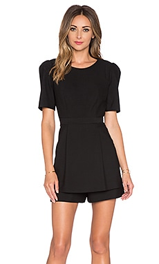 MILLY Loulou Romper in Black