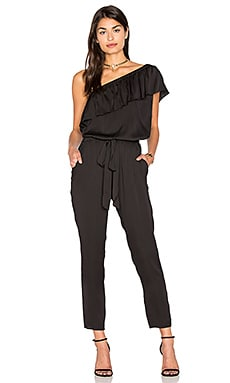 One Shoulder Jumpsuit in Black