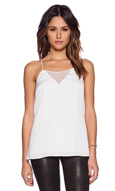 MILLY Sophia Tank Top in White