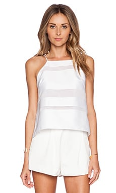 MILLY Trapeze Cami in White