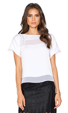 Illusion Stripe Tee in White