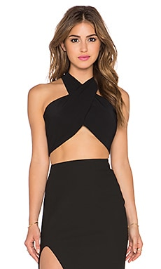 MILLY Wrap Halter in Black