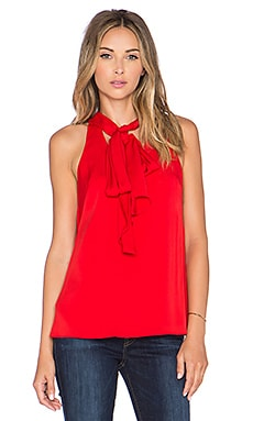 MILLY Scarf Halter Top in Poppy