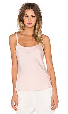 MILLY Stretch Silk Cami in Blush
